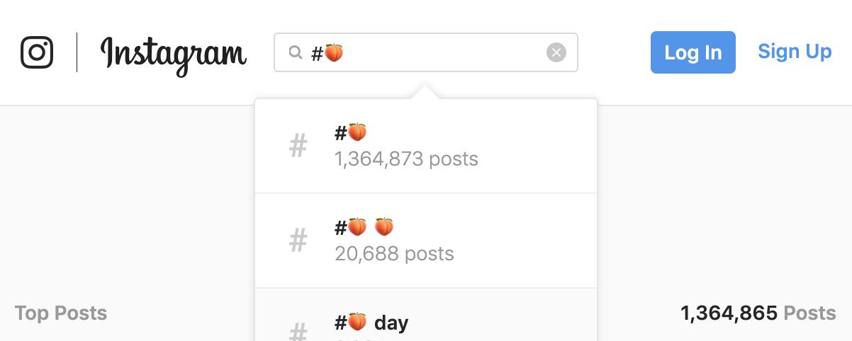 Instagram Porn Emoji